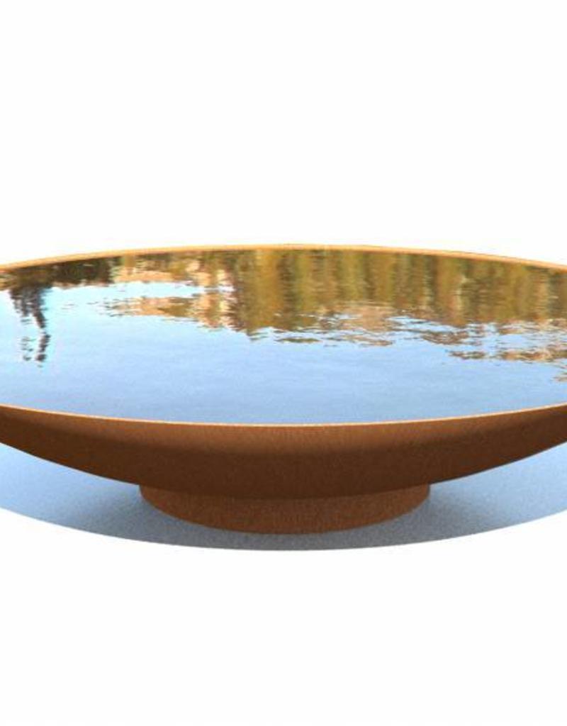 cortenstaal-waterschaal